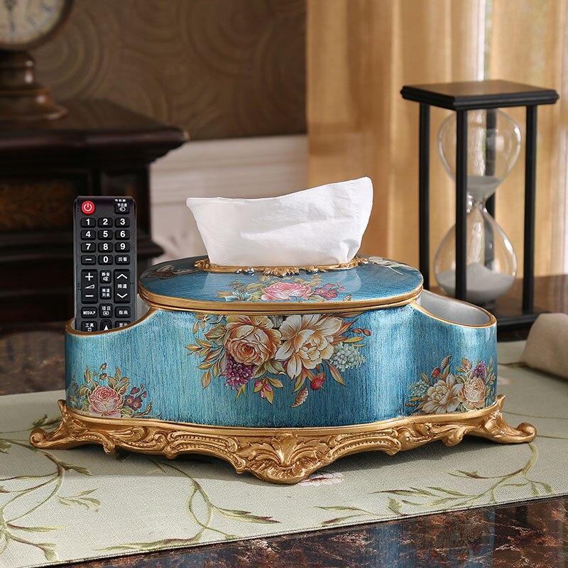 Kontinentální retro box americký obývací pokoj stůl multifunkční box luxusní bytové textilie ubrousek box