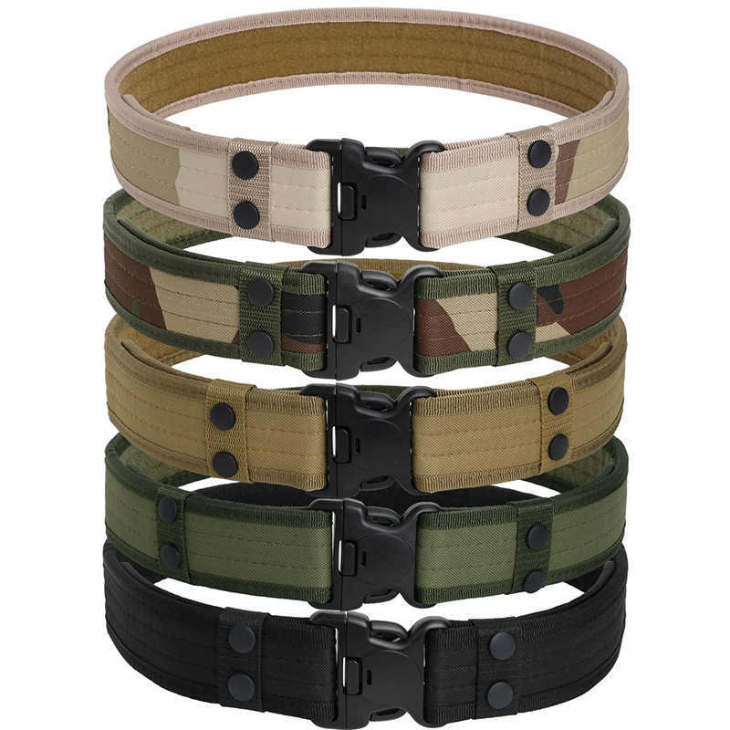 Army Tactical Military Belts Nylon Belts Special Forces Police Duty Survival Waist Belts Combat Shoot Wide Belts Tactical Gear