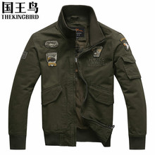 Men s jackets Autumn And Winter Men bomber jacket Military Aviation Decorative embroidery flight air force