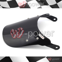 Motorcycle Universal Windshield Windshield Pare Brise Black Fite For Honda Suzuki Yamaha For 7 Round Headlights