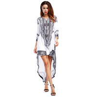 Short Before And After The Long Dress Boho Style 2018 Newest Summer Best Quality Casual Printing