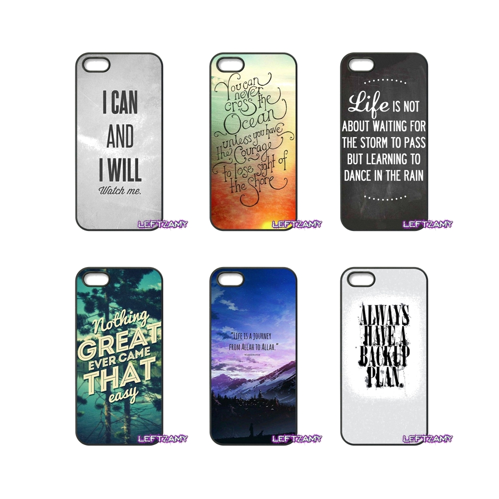 Islam motivational Quote poster Hard Phone Case Cover For iPhone 4 4S 5 5C SE 6 6S 7 8 Plus X 4.7 5.5 iPod Touch 4 5 6
