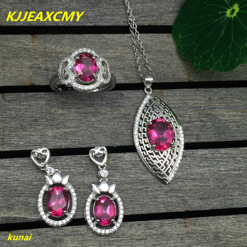 KJJEAXCMY boutique jewels 925 silver inlay natural Pink Topaz Ring Pendant Earrings 3 suit jewelry necklace sent dfgh kjjeaxcmy boutique jewels 925 silver inlay natural pink topaz ring pendant earrings bracelet 4 suit jewelry necklace sen