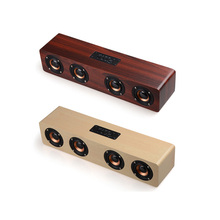 Best gift  Bluetooth wooder  4 HiFi Speakers TF Card AUX Subwoofer Portable Speaker for  iphone TV Home Theatre Wood Sound
