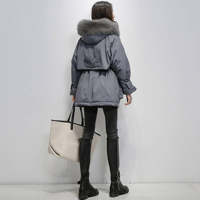 2019-Winter-Women-Real-Natural--Fur-Collar-Hooded-Down-Loose-Coat-Parka-Female-Thick-Warm (3)