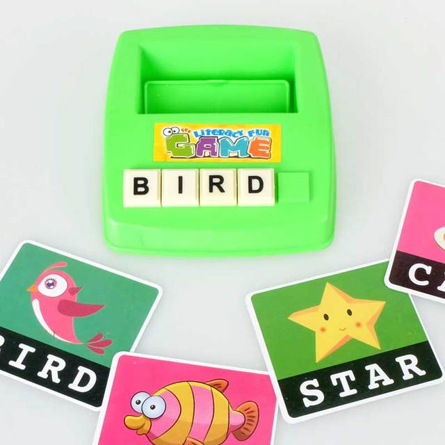Children Learning English Word Puzzle Spelling Game Picture Flash Card Early Educational Toys For Baby Kids Gift YH-17