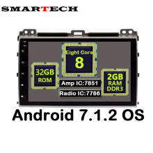 SMARTECH 9 Pulgadas IPS Screen 8 Core 2 Din Android 7.1.2 Car Stereo Radio 3G Multimedia Para Toyota Prado 120 Land Cruiser 2002-2009