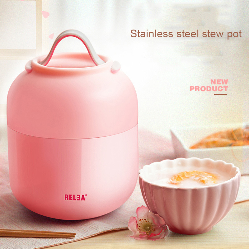 High Quality Every Aspect Stew Pot Stainless Steel Students Insulation Multi Layer Protection Children s Food