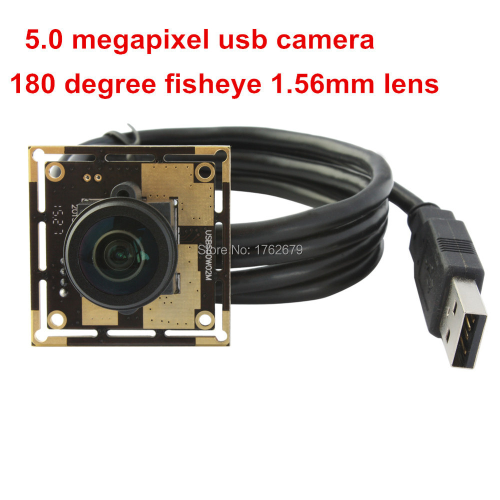 5MP 2592X1944 HD USB Camera CMOS OV5640 1.56mm 180 degree wide angle USB PCB Board for mac,linux,windows elp 5mp 60 degree autofocus usb camera with ov5640 cmos sensor for linux android mac windows pc webcam machine vision camera