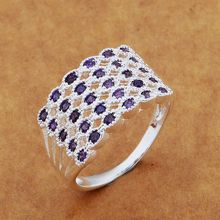 Hot Fashion Jewelry silver rings with Austrian crystal pretty party jewelry  top quality factory price