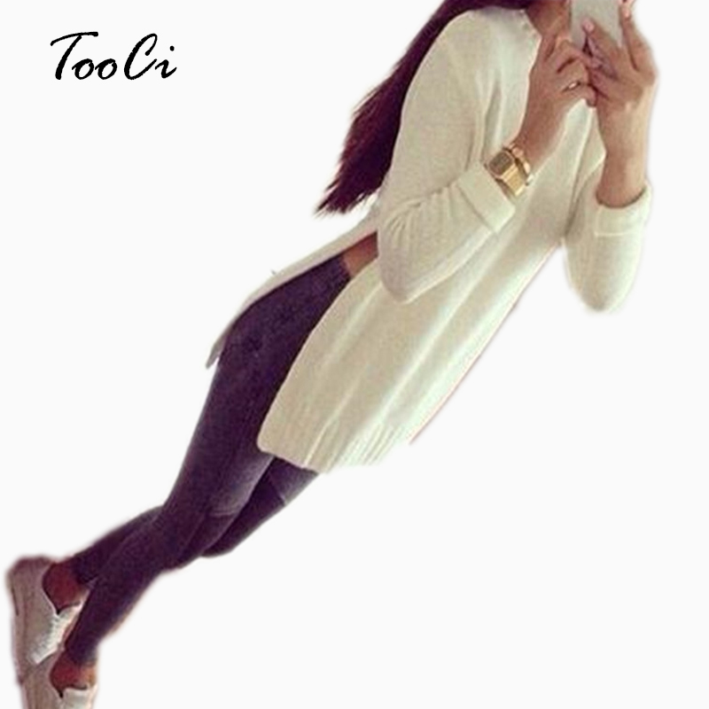 New Spring White Pullover High Quality Women Slim Knitted Pullovers High Elastic O-Neck Side Sweater Long Sleeve Knit Sweater