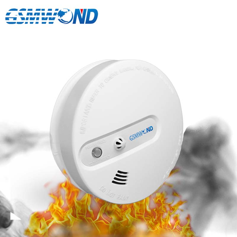 433mhz Wireless Smoke Fire Detector Beep Sound And Light Alarm For
