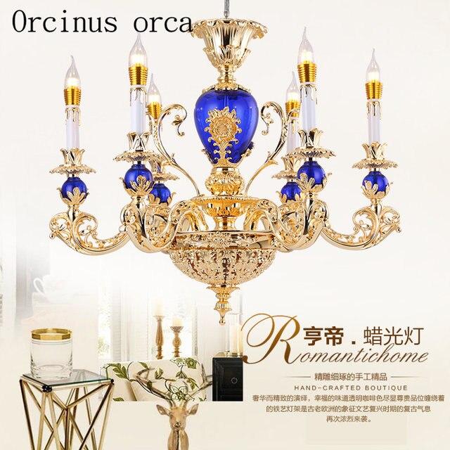 Simple European Style Crystal Chandelier French Luxury American Dining Room Retro Minimalist Atmosphere Creative Bedroom Lamp