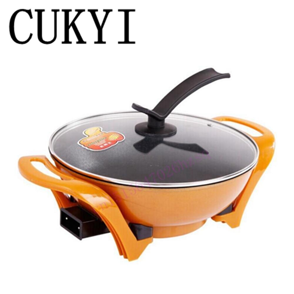 CUKYI multifunction electric hot pot of gold non-stick smoke-free energy-saving electric hot pot все цены