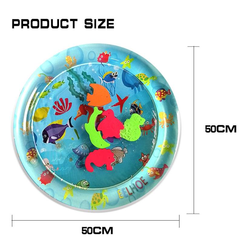 HTB1 7ifSwHqK1RjSZFEq6AGMXXaY Baby Inflatable Water Play Mat Infant Gym Playmat Kids Thicken PVC Creative Dual Use Patted Pad Toy Toddler Funny Cushion Toy