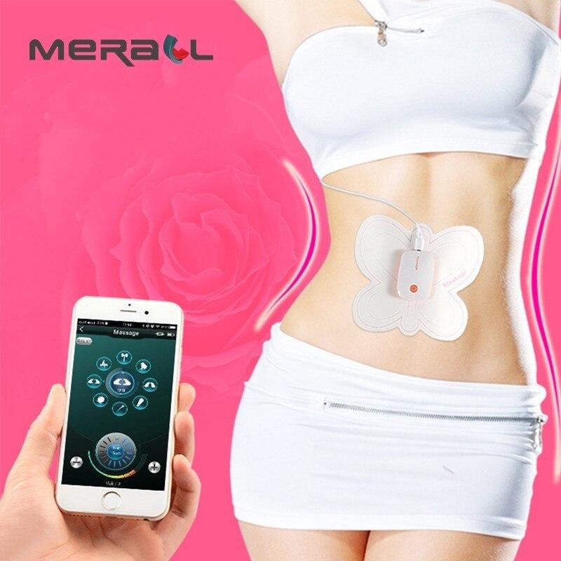 лучшая цена Brand Mobile Wireless Control Abdominal Machine ABS Ems Trainer Electric Muscle Stimulator Slimming Massage Weight Loss Stickers