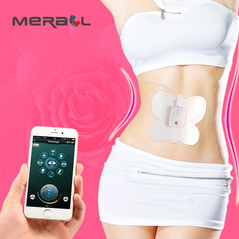 Brand Mobile Wireless Control Abdominal Machine ABS Ems Trainer Electric Muscle Stimulator Slimming Massage Weight Loss Stickers