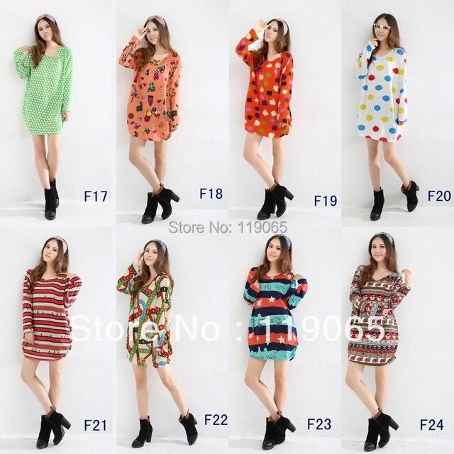 2013 New Large Size Women Fat Girls Long Sleeved Winter Dress Lady