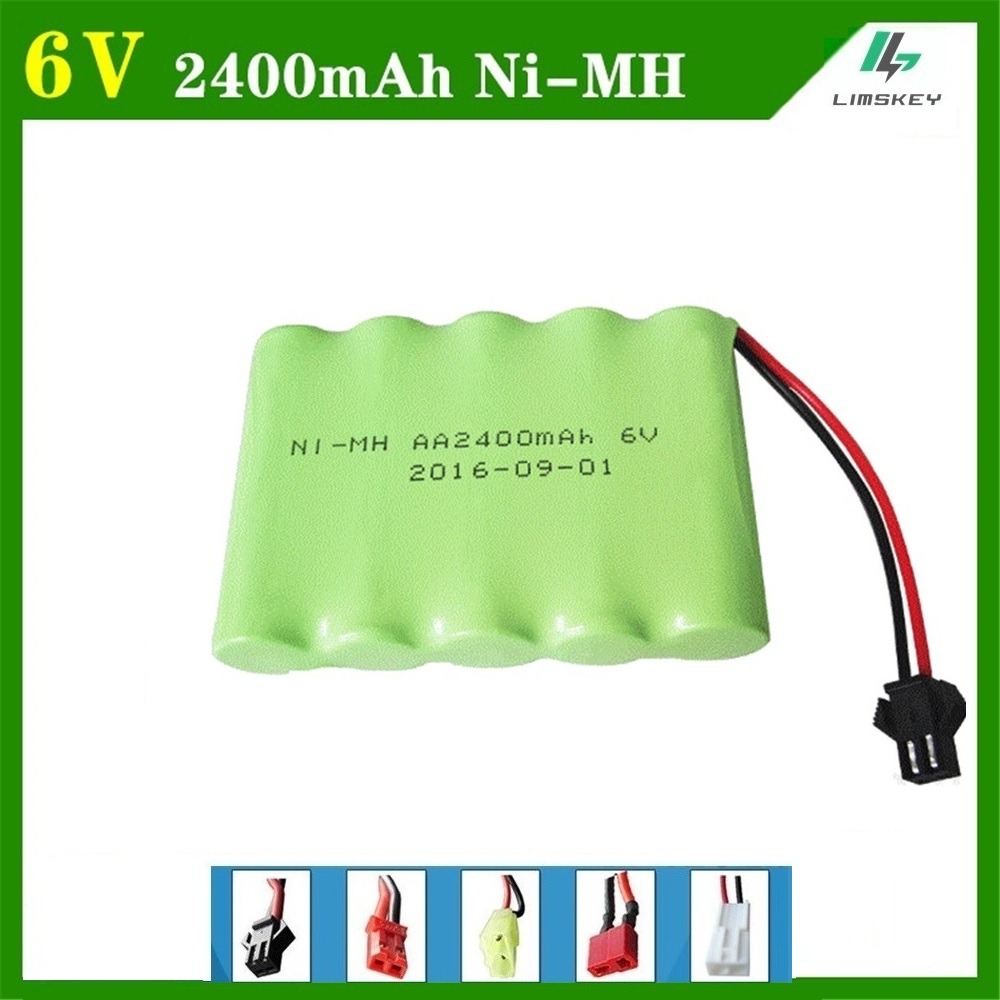 6V 2400mAh Remote Control toy electric lighting lighting security facilities 5*AA Ni-MH battery RC TOYS battery group
