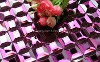 LSMR13 Purple Mirror Glass Mosaic TV Backdrop Mosaic Mirror Mosaic Glass Mirror Mosaic Tiles