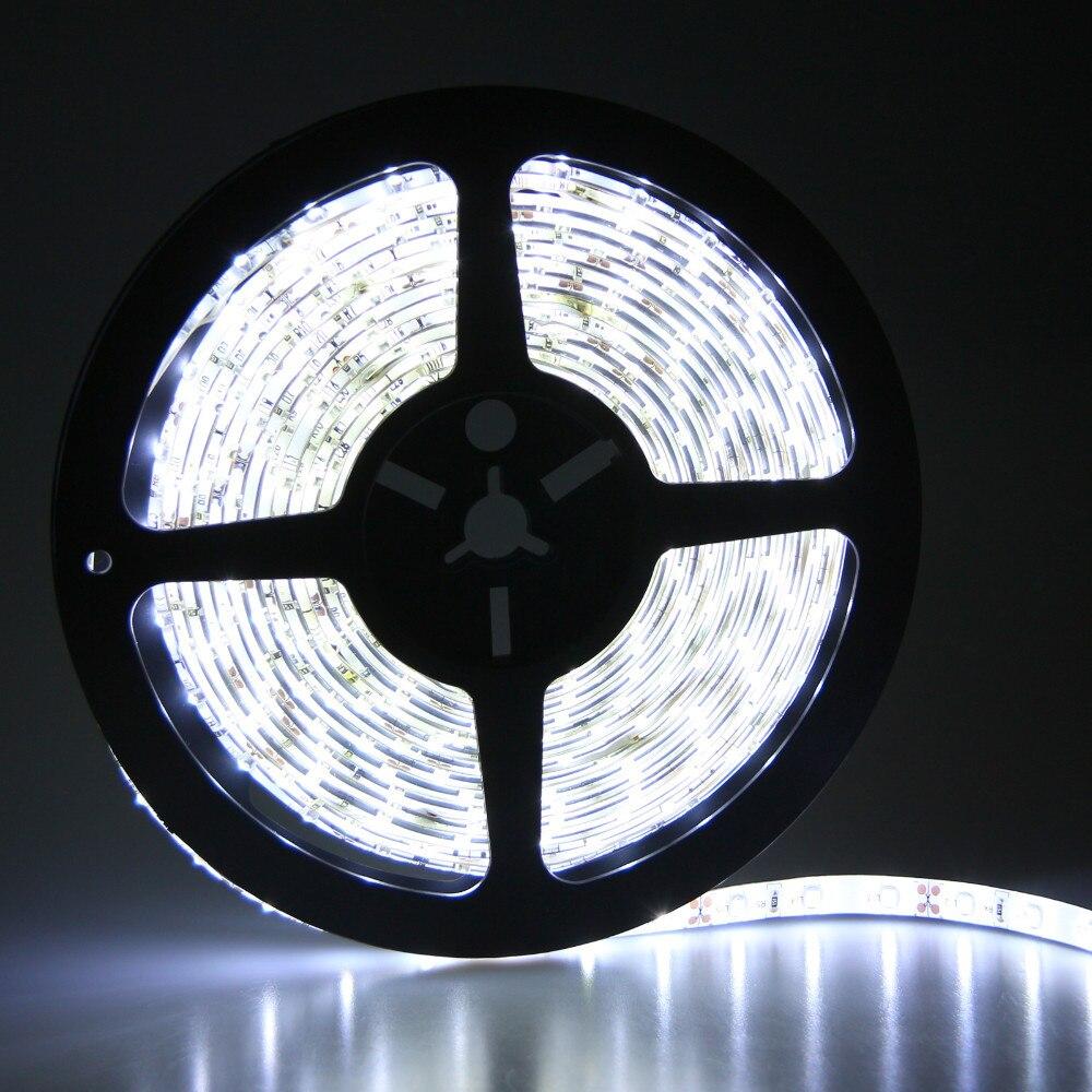 5M vízálló LED csík fény SMD 3528 60LED / M meleg fehér / - LED Világítás
