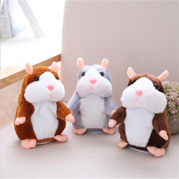 Dropshipping Talking Hamster Falante Mouse Pet Plush Toy Cute Talking Sound Record Educational Stuffed Doll Children Gifts 15cm 1