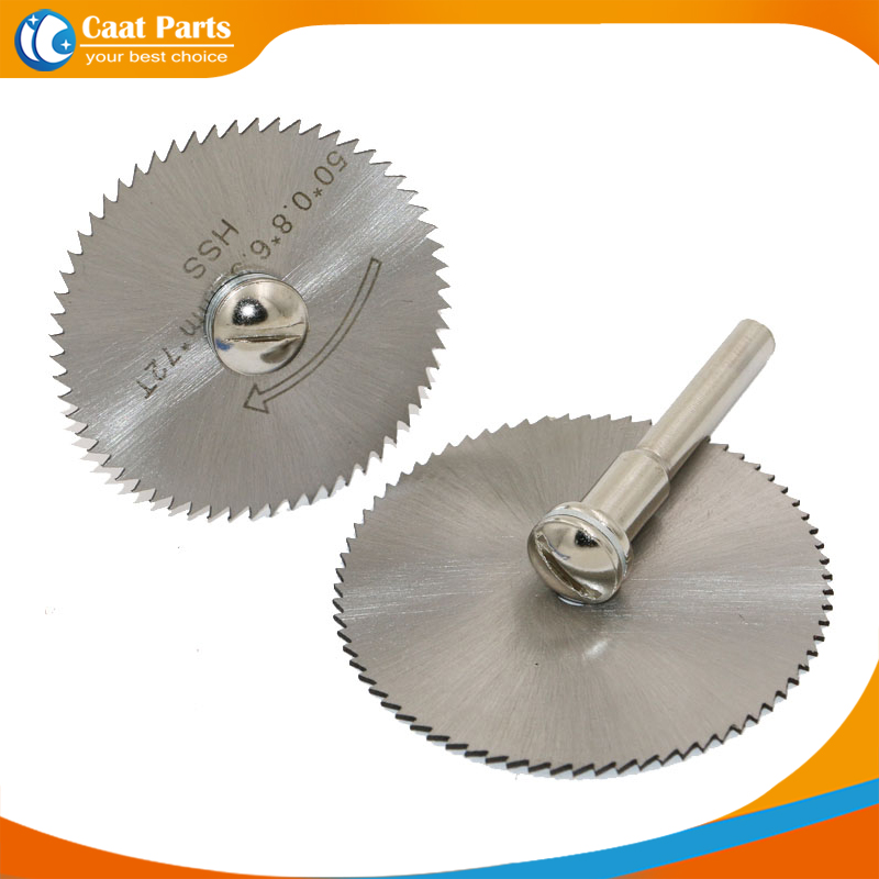 Free Shipping! 60mm HSS Rotary Tools Circular Saw Blades Cutting Discs With 6mm Connecting Rod,high Quality!