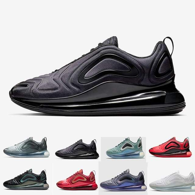 US $37.99 5% OFF 720 Men Women Running Shoes Northern Lights Night Triple Black Total Eclipse Cool Grey Metallic Silver Trainer Sport Sneaker in