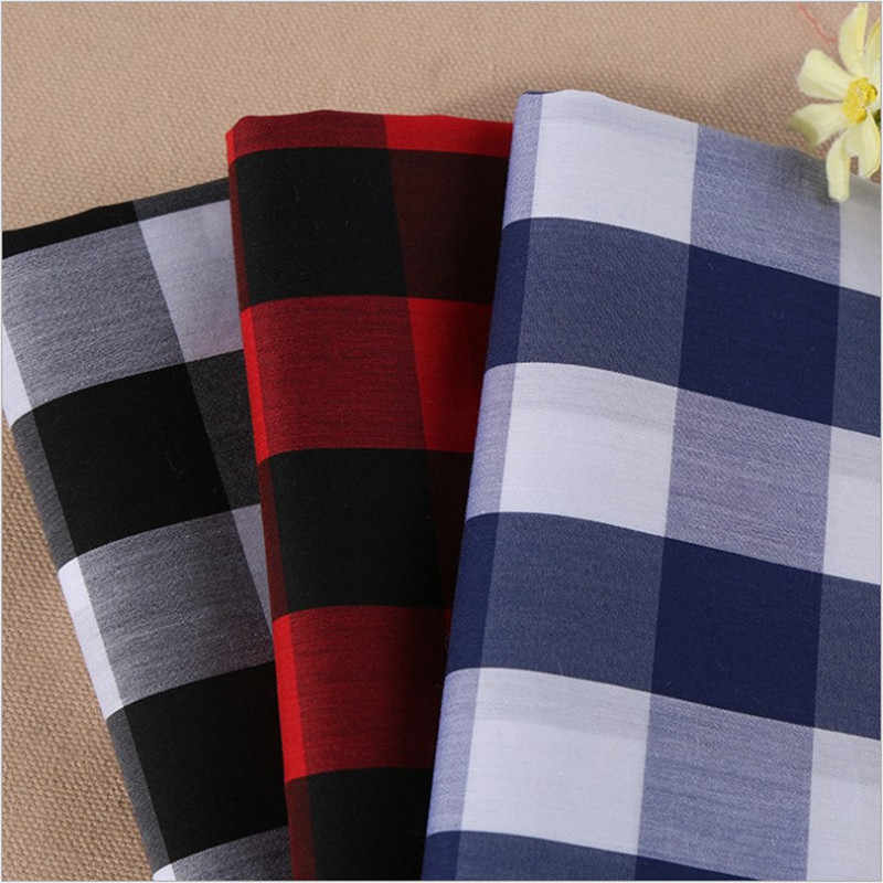 1.42m width 1m long Wholesale cotton twill flannel cloth sanding fabric and yarn dyed Plaid Shirt cloth