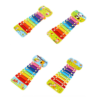8 Notes Xylophone Cartoon Sika Deer Glockenspiel Musical Toy Music Instrument Wooden Xylophone Learning And