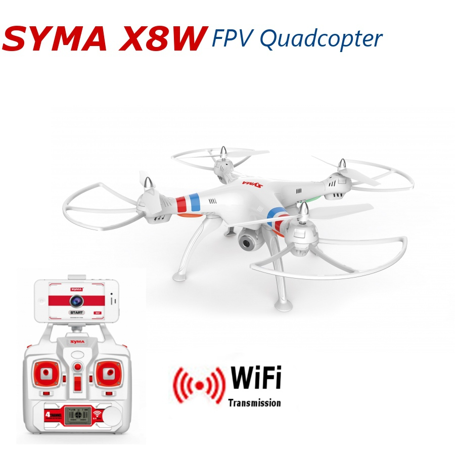 Xiangtat Syma X8W Explorers WiFi FPV RC Quadcopter with 2MP Camera RTF syma x8w fpv rc quadcopter drone with wifi camera 2 4g 6axis dron syma x8c 2mp camera rtf rc helicopter with 2 battery vs x101