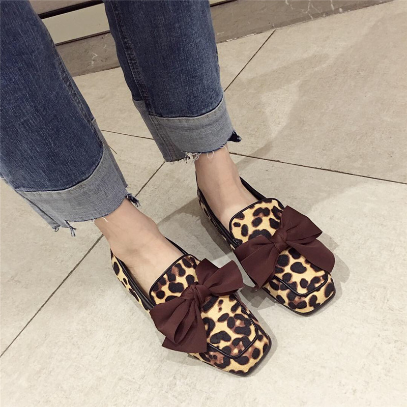 Wellwalk Ballet Flats Woman Shoes Leopard Loafers Women Ballerina Flats Shoes Ladies Black Flats Female Moccasins Shoes Spring 18