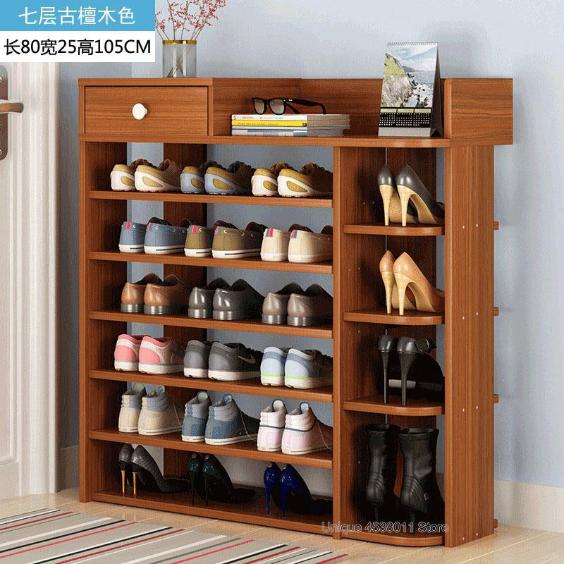 Wooden Shoe Box Storage.Us 124 88 Modern Multilayer Shoe Cabinet Wooden Shoe Box Storage Box Shoe Organizer Thickened Shoe Box Assembly Economical Dustproof Home In Shoe