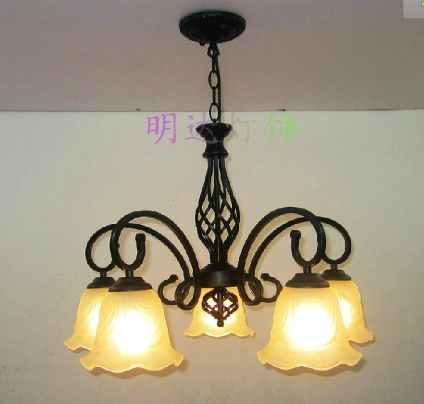 FREE SHIPPING EMS pendant light luxury vintage wrought iron pendant light lamps rustic lighting pendant lamp ems free shipping rustic wrought iron flowers and bedroom pendant light fashion pendant light brief pendant light lighting lamps