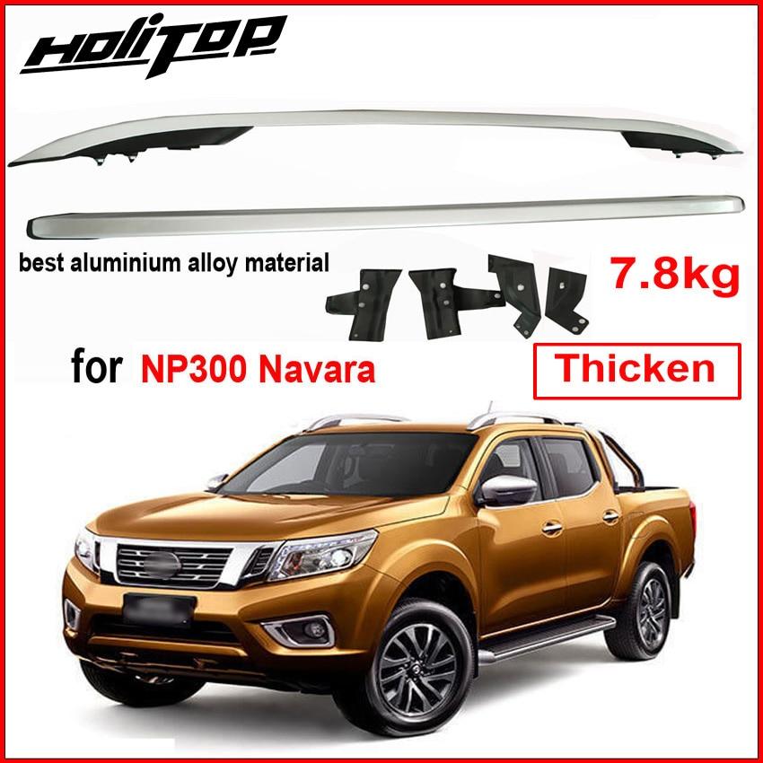 Toit rack rail de toit bar pour Nissan NP300 Navara 2016-2018, épaissir en alliage d'aluminium, fourni par ISO9001 grande usine, très fiable