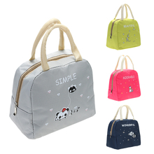 Lunch-Bag Picnic Cloth Women Fashion Insulated Winter Oxford Cute Office Handy Thickness