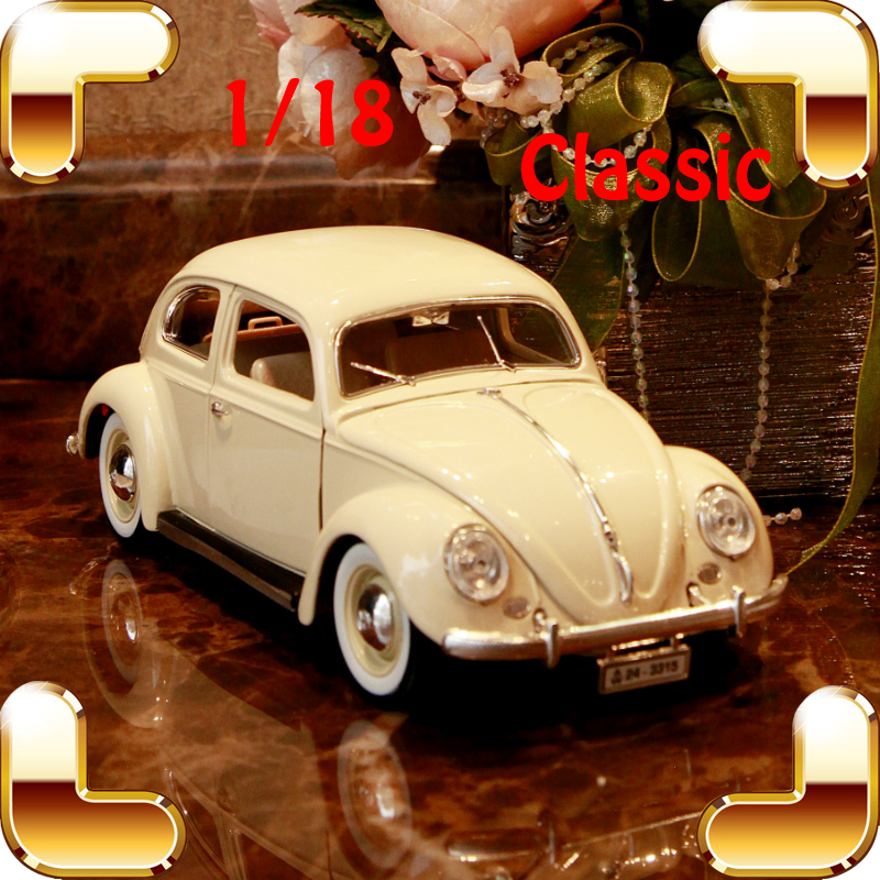 все цены на Christmas Gift VB 1/18 Metal Classic Car Collection Model Scale Alloy Window Show Car Decoration Metallic Strong Present Toys
