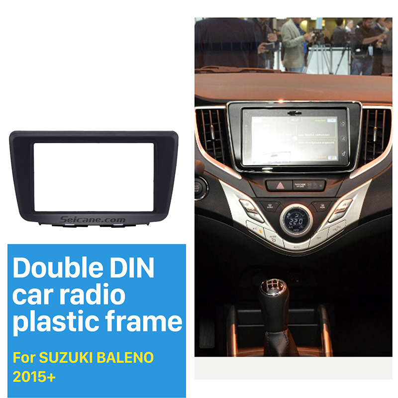 Hot ! 173*98MM Double Din Car Radio Fascia for 2015+ Suzuki Baleno DVD GPS CD Trim Radio Installation Kit Auto Stereo ...