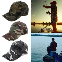 Camouflage Fishing Hat Outdoor Sports Cycling Hiking Cap Bas