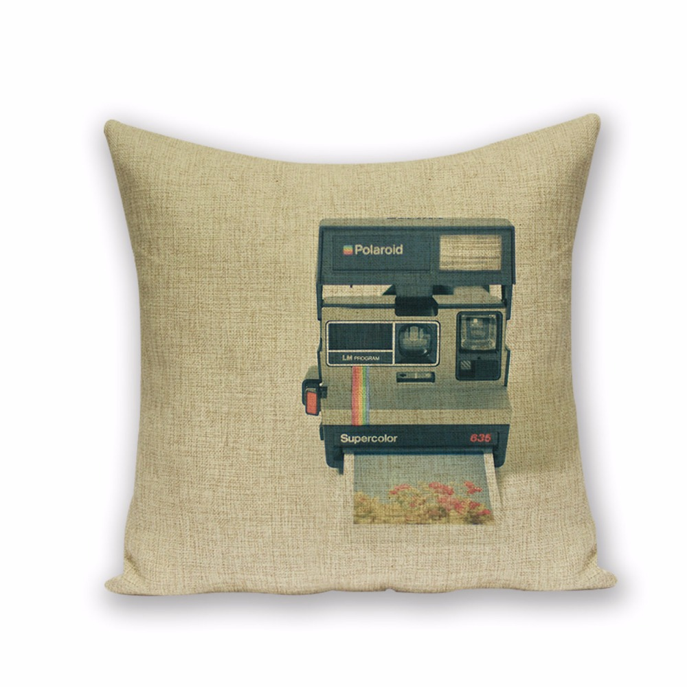 Camera Car Shabby Chic Pillows Colorful Outdoor Cushions High