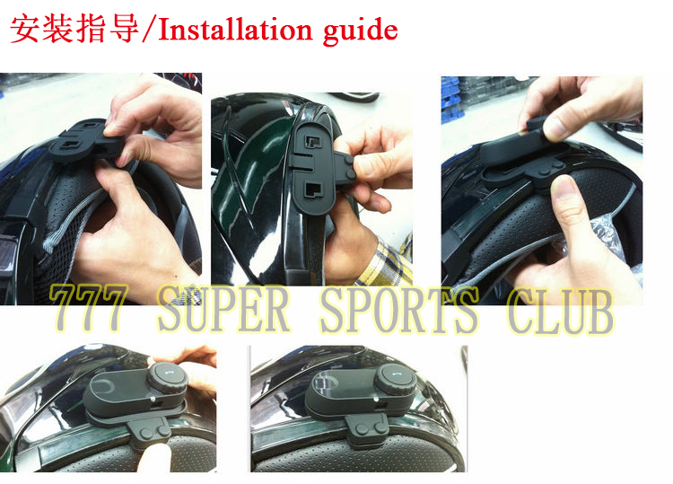 1 teil/satz TCOM-VB/TCOM-02/TCOM-SC Motorrad Helm Bluetooth Headset Leuchte & Clip Headset Clamp teil Intercom Zubehör