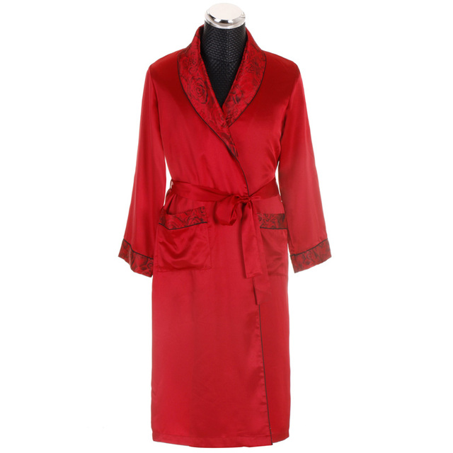 2b11a5ae74 Long Bath Gown Mens Satin Robes Silk Robe Silk Rayon Men s Bathrobe Satin  Homewear Lounge Robe Satin Bathrobe Satin Sleepwear