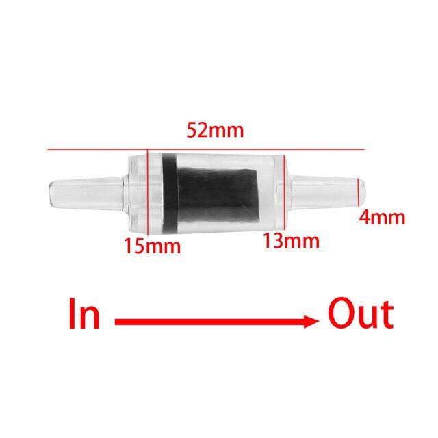 5 uds nueva útil Durable para pecera doméstica Sistema de plástico Co2 bomba de aire unidireccional válvula de retención de acuario sin retorno