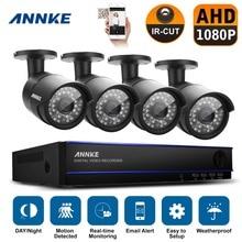 Annke nuevo 4CH HD 200 W 1080 P HDMI DVR 4x interior exterior CCTV seguridad para el hogar sistema de cámara