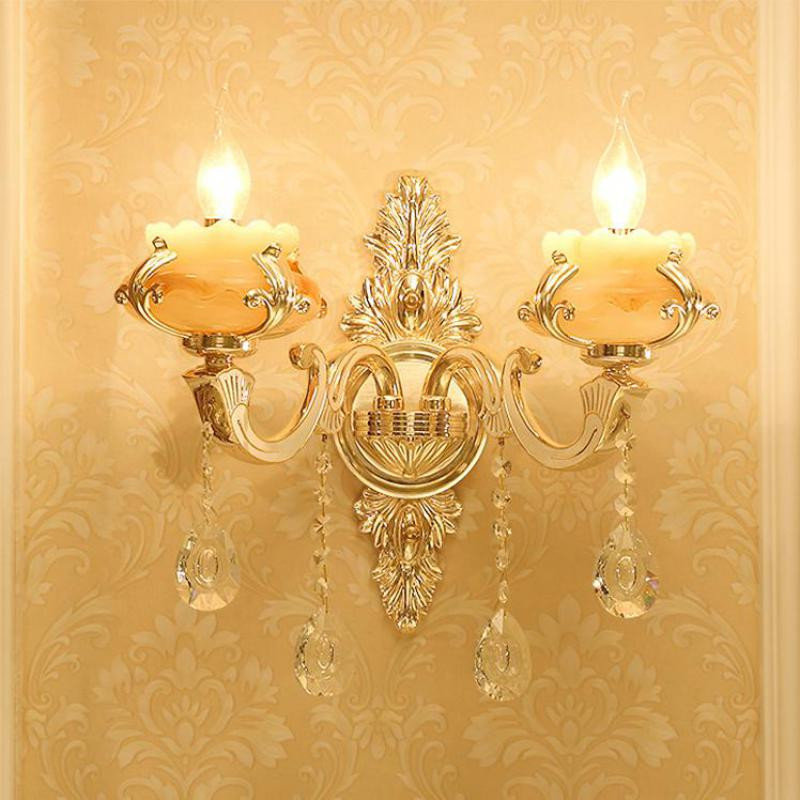 Projet alliage éclairage mural Aplik Lamba intérieur clair cristal applique murale couloir Arandela artificiel marbre maison led Wandlamp