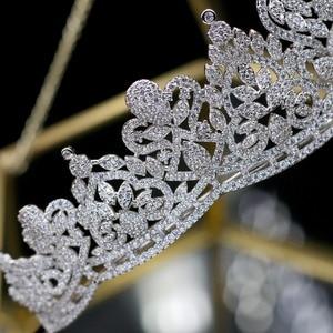 Image 4 - Asnora coroa de noiva 크리스탈 웨딩 tiaras 신부 크라운 신부 헤어 액세서리 tiara nupcial