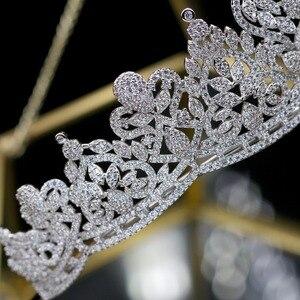 Image 4 - Asnora coroa דה noiva גבישי חתונה מצנפות כלה כתרים כלה שיער אביזרי נזר nupcial