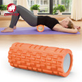 Foam Roller TPE Grid Foam Massage Roller Yoga Pilates Fitness Physiotherapy Rehabilitation Massage Yoga Roller Orange Color