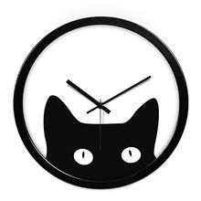 Cat Animal Art Wall Clock Creative Modern Design Large Decorative Wall Clocks Home Decor Best Selling 2018 Products 50A0082