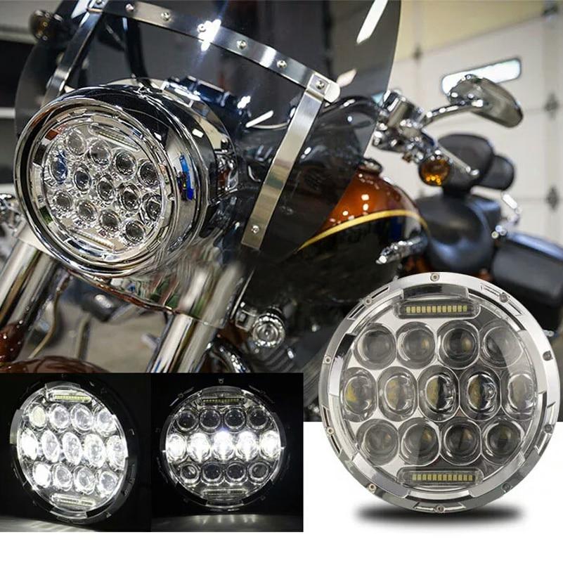 OTBS 7inch 75W LED Headlight Car Led Driving Light Hi/Lo Beam DRL H4 H13 12V 6000K for Harley Softail Slim Fat Boy